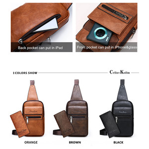 Image 3 - Celinv Koilm High Quality Men Chest Bags Split Leather Large Size Crossbody Bag Daypacks For Young Man Brand Sling Bags Unisex