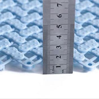 25*25cm Bathroom Anti-Skid Mat Plastic Floor Mat Kitchen Bathroom Carpet Toilet Bath Mat DIY Shower Bath Carpet Rug Door Mat 10