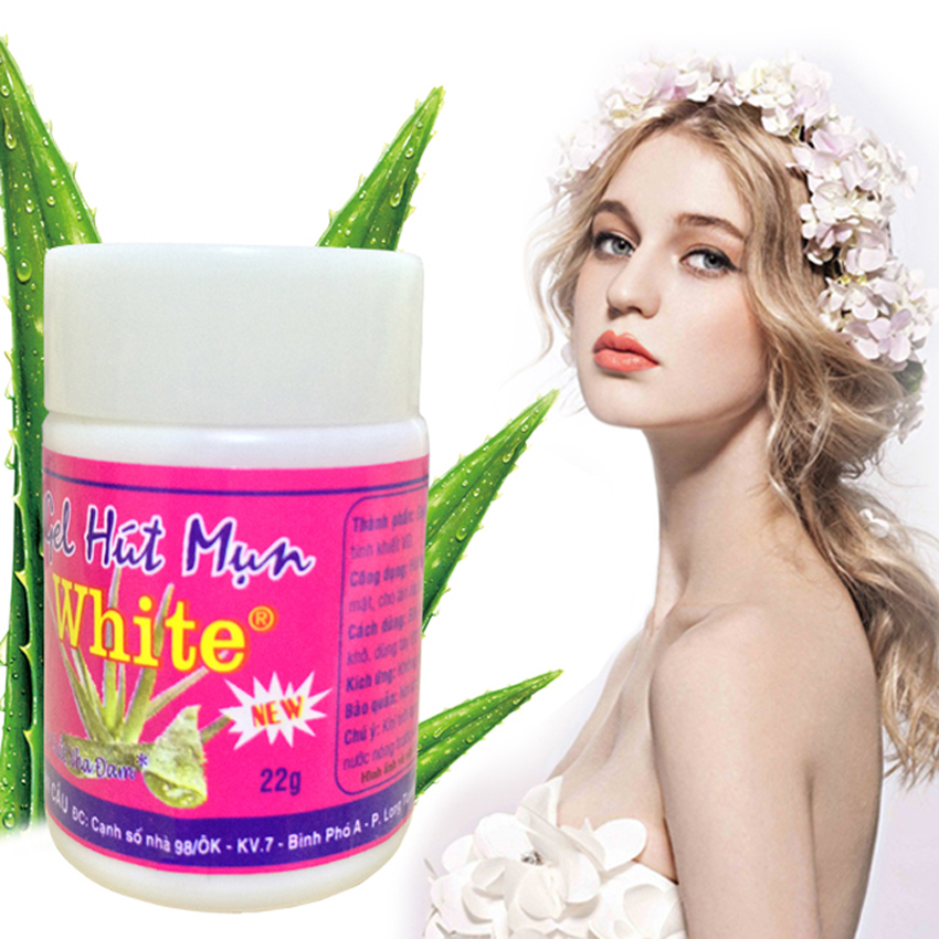 New White Aloe Vera Gel cleanse Nose Strips to Remove Blackheads Shrink Pores Cleansing Lotion Acne Nose Paste 22g