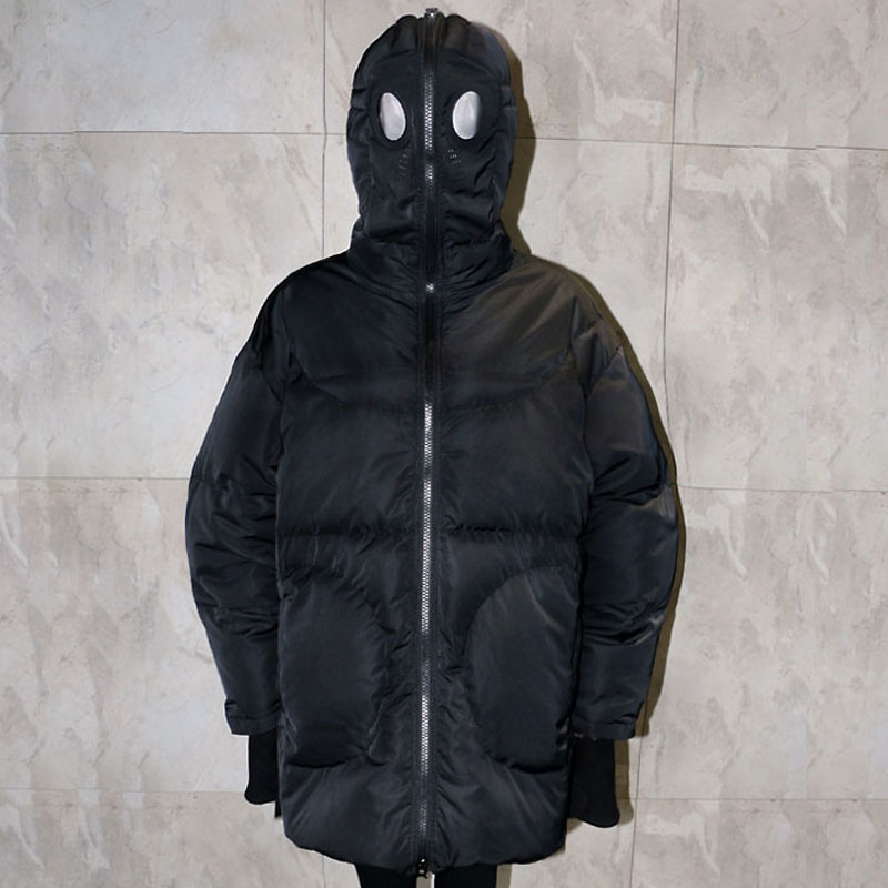 Winter Mantel Frauen Lose Volle Gesicht Kappe Kapuze Dicken Parka Plus Größe Frauen Jacke Weiß Schwarz Lustige Persönlichkeit Alien Mantel BB09 - 3