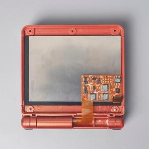 Image 5 - LCD أطقم شل الإسكان 5 مستوى السطوع تسليط الضوء على GBA SP IPS مغلفة عرض ل GAMEBOY مسبقا SP الخلفية PRE CUT قذيفة