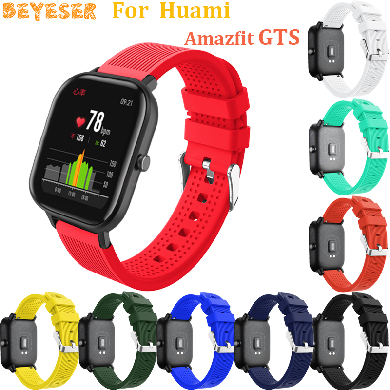 20mm silicone wristband For Huami Amazfit GTS GTR 42mm Bip Pace Lite watch bands replacement For Garmin vivoactive 3 wrist strap