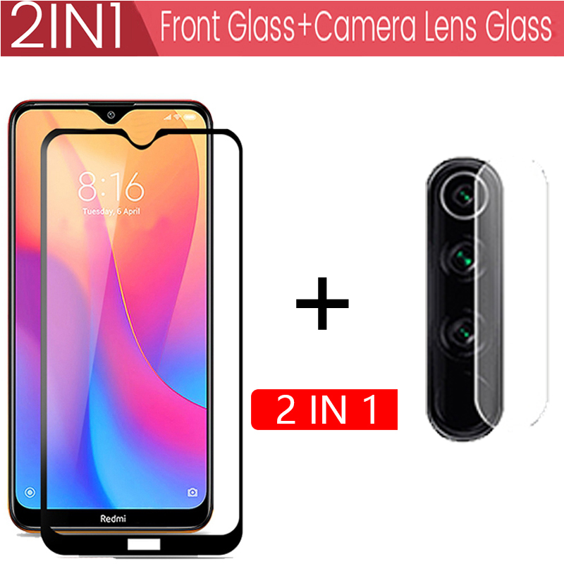 2-in-1 Tempered Glass for Redmi note 8T 7 8 Pro 9s Screen Protector Protective Glass on Note 8 T for Xiaomi redmi note 8t glass(China)
