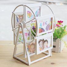 Photo Frame European Windmill Ferris Wheel Combination 12 Photos Novel Design White Plastic