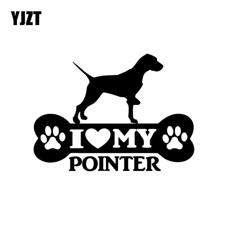 YJZT 15.2X11.1CM Pointer Bone Car Sticker English Dog Vinyl Decal Art Decor Black/Silver C24-1198