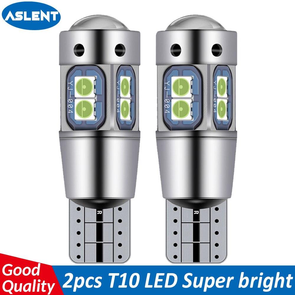 ASLENT T10 W5W высокое качество светодиодный Автомобильная Поворотная бортовой светильник габаритного фонаря WY5W 501 168 192 светодиодный Авто Клин п...