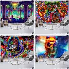 Mandala duvar asılı goblen psychedelic desen yoga atmak plaj atmak halı hippi ev dekor mandala duvar halısı battaniye
