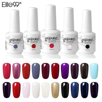 Elite99 15ml UV Nagel Gel Farbe Tränken Weg Von DIY Nail art Maniküre Gel Lack Vernis Semi Permanent UV Gel nagellack Gel Lack