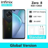 Infinix-smartphone Zero 8, versión Global, 8GB y 128GB, Quad cámara de 64MP, pantalla completa de 6,85