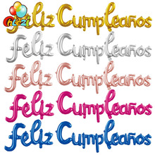 Spanish Happy Birthday Letters Balloons Lowercase Conjoined Alphabet Foil Globos Birthday Party Decoration Banner Baby Shower