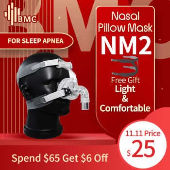 BMC NM2 Nasal Mask With Headgear And Head pad S/M/L Different Size Suitable For CPAP Machine Oxygenerator Connect Hose And Face - DISCOUNT ITEM  45% OFF Beauty & Health