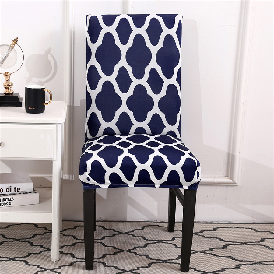 Modern Stretch Spandex Dining Chair Covers for Wedding Banquet Slipcovers