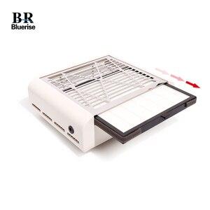 Image 5 - Bluerise 40W süpürge için manikür düşük gürültü tozsuz vakum başlık manikür tırnak toz toplayıcı tırnak tasarımı için çıkarıcı
