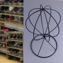 LETAOSK negro Vintage contador de alambre de metal estante de muestra para gorros Cap Holder peluca soporte de almacenamiento percha exhibición independiente Peluca de sombrero