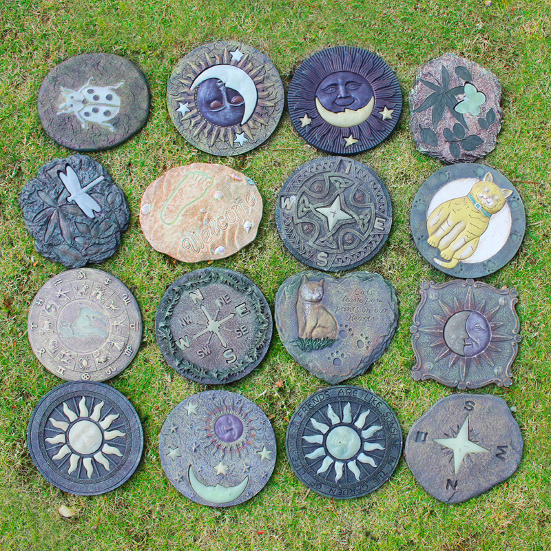Creative Garden Stepping Stone Board Resin Night Glowing Trail Decoration Statue Outdoor Garden Lawn Decor Ornament