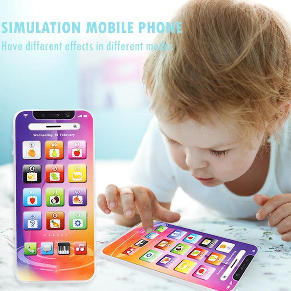 Kids Smart Touch Screen Russia Language Learning Simulation Early Toy Education Toy Children Phone Multi-function Mobile I7M5