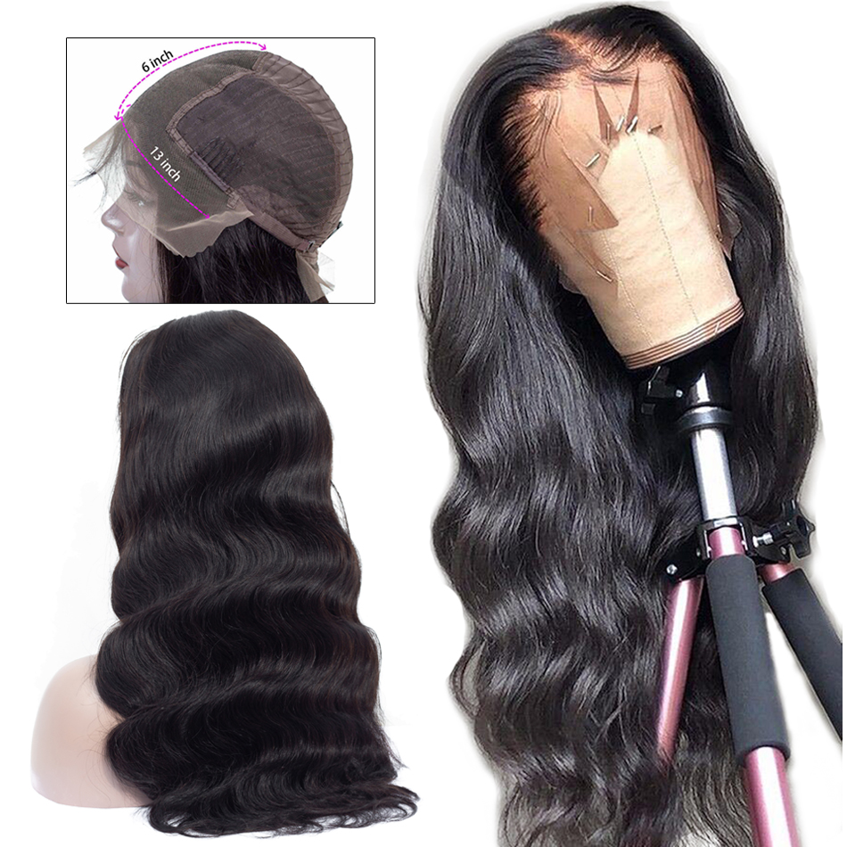 Ashimary Wig Remy Human-Hair Lace-Frontal Body-Wave Pre-Plucked 13x6