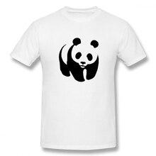 100% cotton WWF Panda print casual mens o-neck t shirts fashion Mens Basic Short Sleeve T-Shirt