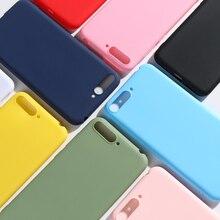 Candy Color Case sFor Coque Huawei Y6 2018 Cover Honor 7A Standard ATU-L21 ATU-L22 ATU-LX3 5.7 Funda Etui Hoesjes