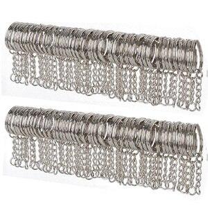 10/50pcs Metal Silver Blank Keyring Keychain Split Ring Keyfob Key Holder Pendant Rings Car Home DIY Key Chains Accessories(China)