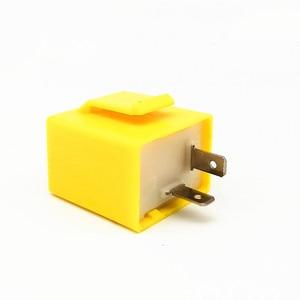 Image 1 - العلامة التجارية الجديدة 12 فولت 2 دبوس قابل للتعديل تردد LED مرحل ومضي بدوره إشارة الوامض المؤشر لملحقات دراجة نارية