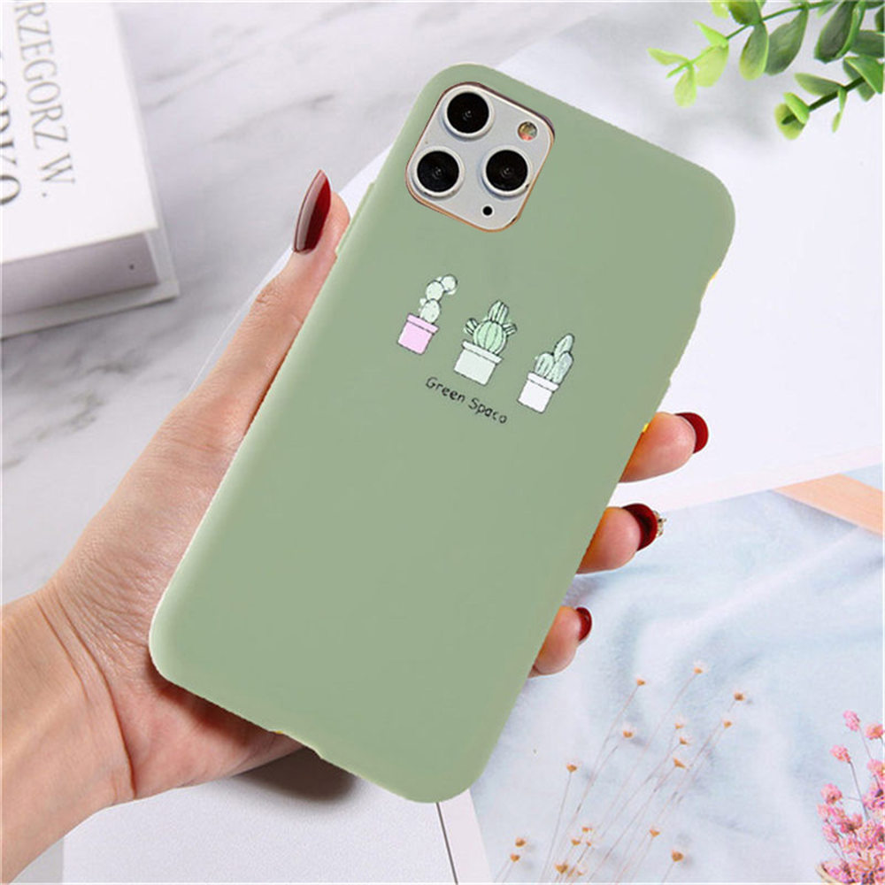H0708ea529273476fab11b479e9370b114 - Lovebay Silicone Phone Cases For iPhone 7 XR 11 Pro Avocado Waves Cactus For iPhone 5SE 6 6s 8 Plus X XS Max Soft TPU Back Cover