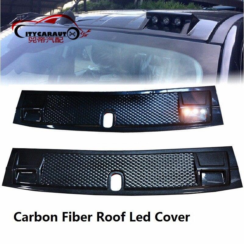 2017 Led toit lumière Raptor fibre de carbone pour ranger 2015 + toit accessoires pour ranger t7 t8 2015-2019 panneau décoratif de toit