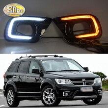 SNCN Luz LED de conducción diurna para Dodge Journey, Fiat Freemont 2014 2015 2016, relé de intermitente amarillo, lámpara antiniebla DRL, decoración