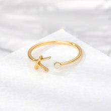 Милый a z Начальной Кольца для женщин утка вниз кольцо из нержавеющей