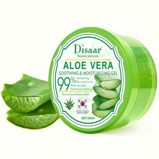Disaar Aloe Vera Gel After Sun Repair Moisturizing Soothing Acne Cream Hyaluronic Acid Whitening Anti-Aging Gel 4