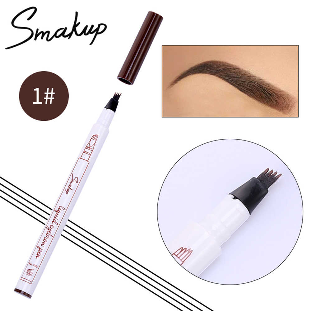 Professional 10D Microblading Eyebrow Tattoo Pen with 10 Fork Tips Sketch  Natural Eye Brow Pencil Waterproof 10 Makeup TSLM10