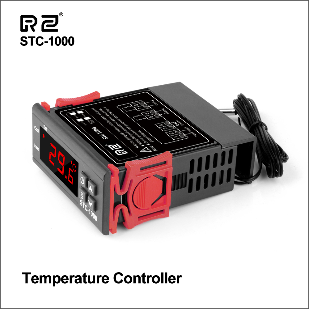 RZ Temperature Controller Digital LED Thermoregulator Thermostat For Incubator <font><b>Relay</b></font> 10A Heating Cooling STC-1000 12V <font><b>24V</b></font> <font><b>220V</b></font> image