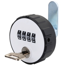 Combination Cabinet Cam Lock 4 Digital Keyless Drawer Door Gym School Locker with Key Reset