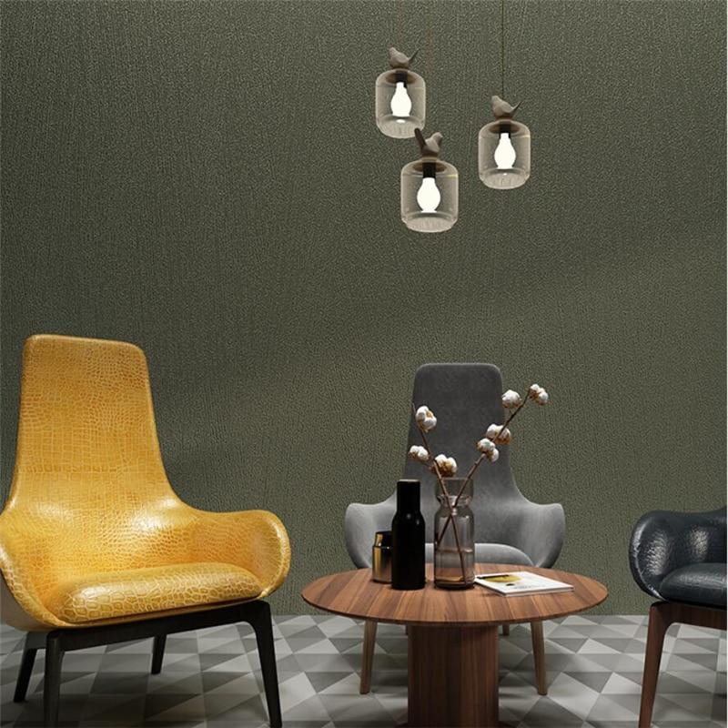 US $28.39 29% OFF|Moderne minimalistischen reine farbe retro grüne tapete  Nordic wohnzimmer schlafzimmer dunkelgrün kleidung shop tapete frische ...