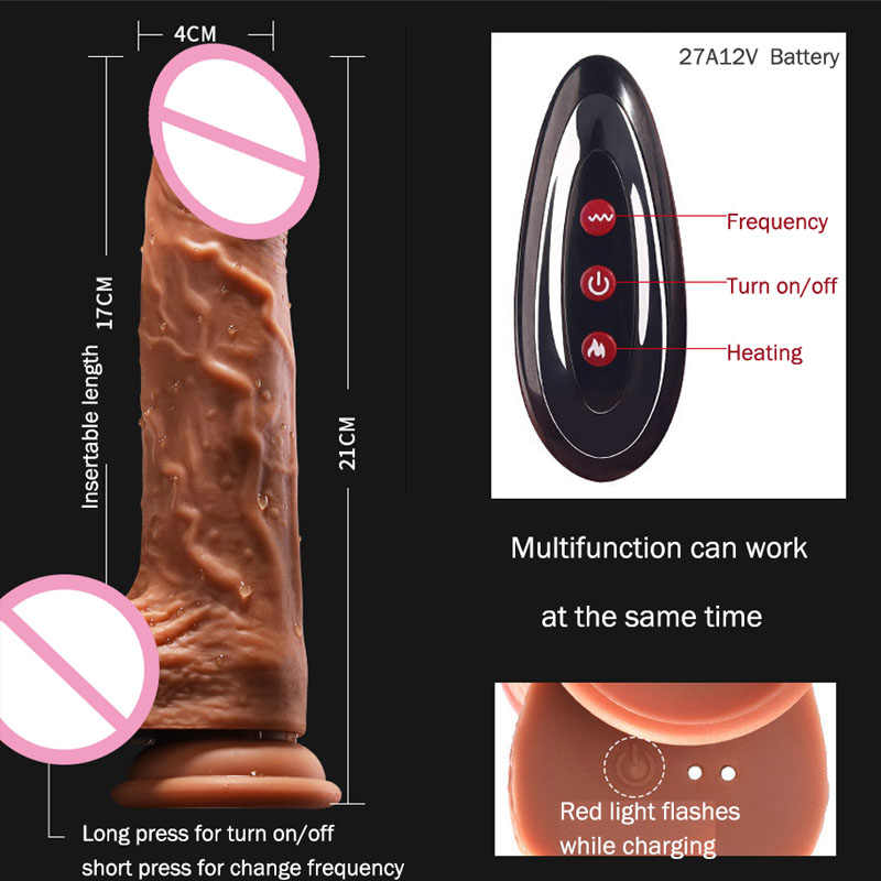 Güçlü sokmak Dildo vibratör gerçekçi kadınlar için Dildos erotik oyuncak yetişkin büyük Penis vantuz yapay Penis vibratörler Sextoy
