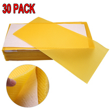 30Pcs Honeycomb Bee Wax Foundation Beehive Honey Frames Base Sheets For Apis mellifera Apiculture Bees wax Durable Honey Hive