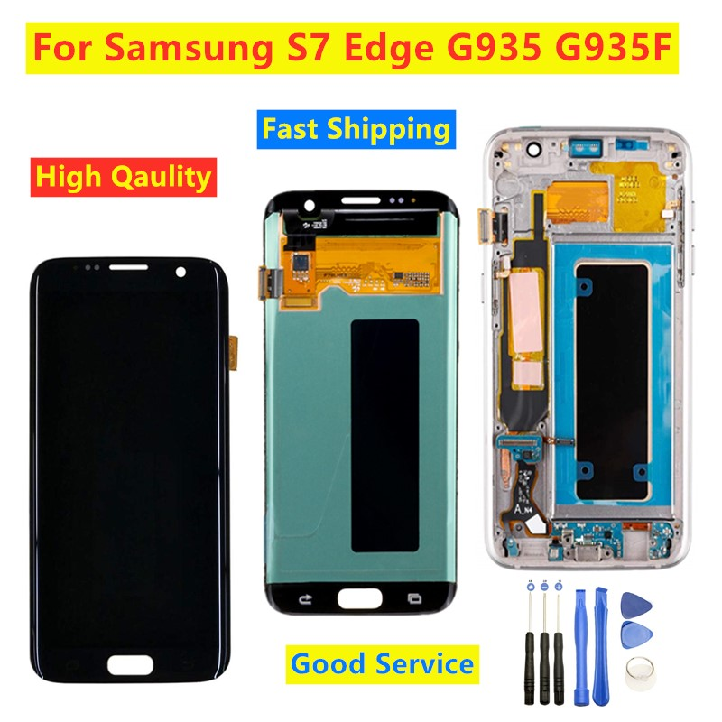 5.5 AMOLED LCD For SAMSUNG Galaxy s7 edge Display G935A G935F SM-G935F LCD Digitizer Display Touch Screen Assembly Replacement image
