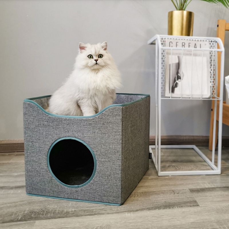 con Forma de casa de Cueva para Gatos y Perros peque/ños Plegable Apta para Interior o Exterior Cama de Dormir para Gatos y Perros peque/ños 2 en 1 Hollypet