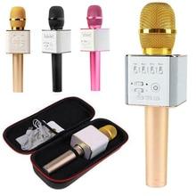 Q9 kablosuz mikrofon taşınabilir el cep telefonu Karaoke çalar evrensel Bluetooth cep telefonu Mic