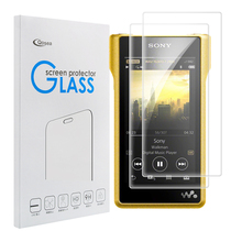 [2 Pcs] Qosea Tempered Glass For Sony Walkman NW-WM1Z Walkman MP3 MP4 Screen Protector 9H Clear Transparent Film Explosion-proof