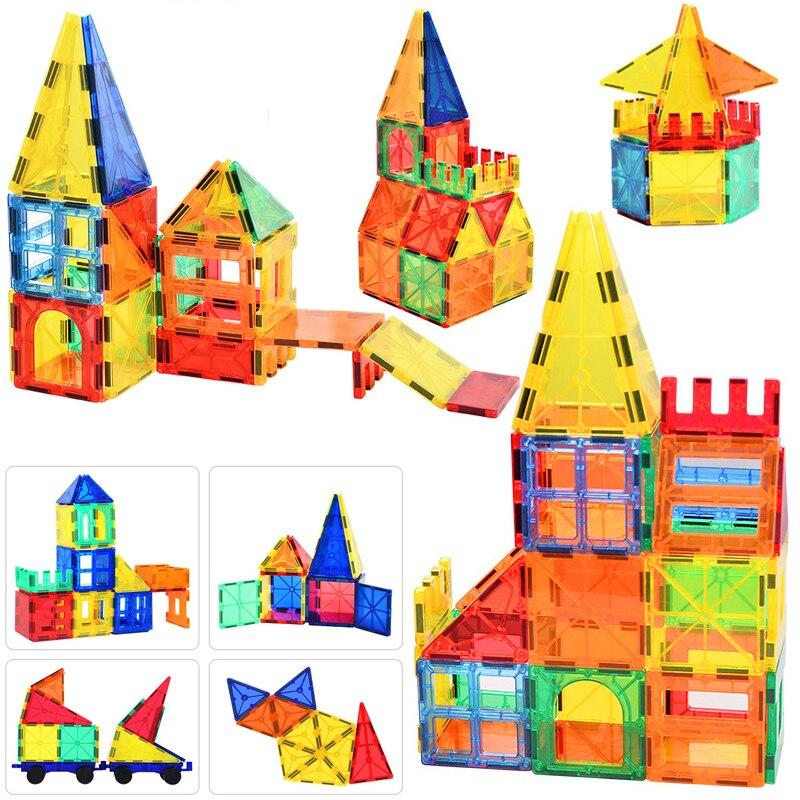 130 sztuk duży rozmiar magnetyczny konstruktor projektant magnes klocki z konstrukcji magnetycznej zestaw zabawek dla dzieci