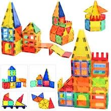130 Uds tamaño grande Constructor magnético de imán bloques de construcción magnéticos de construcción de juguetes para los niños