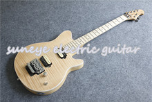 купить Custom Shop Music Man AXIS Style Electric Guitar Natural Wood Matte Finish Guitarra Electrica Left Handed Guitar Available дешево