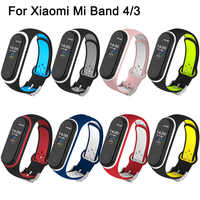 Correa For Xiaomi Mi Band 4 Strap Silicone Wristband Bracelet for Xiaomi Band 4 3 Mi band4 Miband 4 Wrist Straps for Mi Band 4 3
