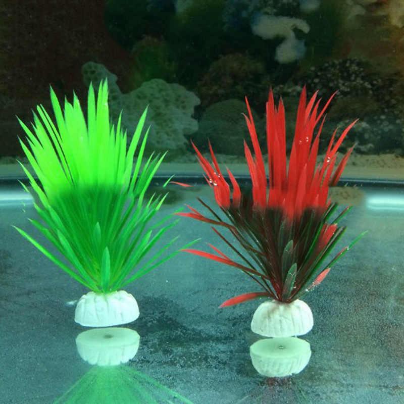 1pcs 13cm Simulatie Kunstmatige Plastic Planten Aquarium Decor Water Onkruid Ornament Plant Aquarium Aquarium Gras