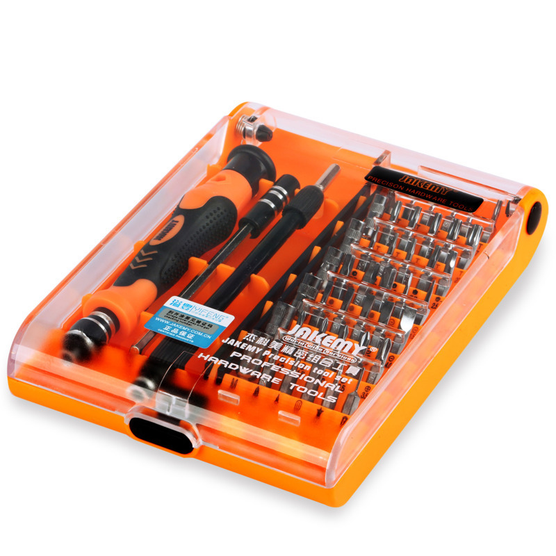 JAKEMY 45 IN 1 JM-8130 Original Hot Selling Precision Screwdriver Box Set With Chrome Vanadium Bits For DIY Mobile Phone Laptop