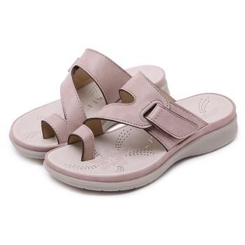 LONSANT dziewczynek kapcie letnie dzieci nubukowe klapki księżniczka dziewczyny czeski kapcie plażowe piękne dziecięce płaskie buty tanie i dobre opinie RUBBER Pasuje prawda na wymiar weź swój normalny rozmiar 10 t Stałe Skórzane Lato Płaskie Obcasy baby sandals girls baby summer