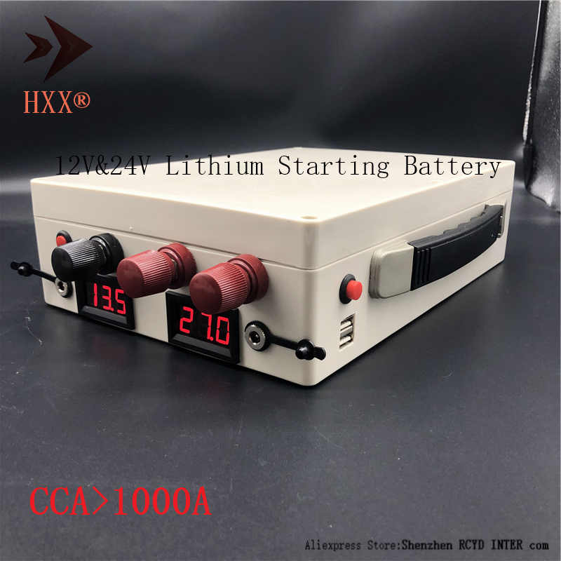 Lifepo4 <font><b>12V</b></font> 24V Lithium Vehicle Starting Emergency <font><b>Battery</b></font> 1000 CCA 13000W Peak Power Multi-Function Portable with LCD <font><b>Batteries</b></font> image