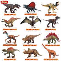 Oenux High Quality PVC Jurassic Dinosaur Park Model Toy Jurassic T-Rex Spinosaurus Triceratops Dinosaurs Action Figure Kids Toy