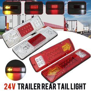 Image 1 - 2pcs 12V 24V 자동차 트럭 테일 라이트 브레이크 라이트 턴 신호 램프 트레일러 용 리어 리버스 램프 트럭 버스 캐러밴 보트 캠핑